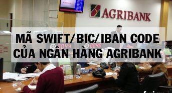 Mã SWIFT/BIC/Iban code của ngân hàng Agribank