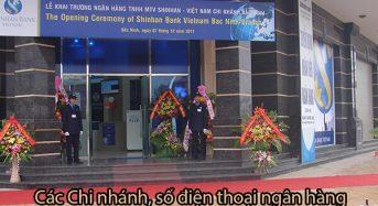 Các chi nhánh, số điện thoại ngân hàng Shinhan Bank tại Bắc Ninh
