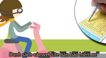 Top [5] trang webs để mua bảo hiểm xe máy online