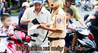 Bảo hiểm xe máy hết hạn có bị phạt không?