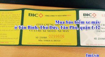 Mua bảo hiểm xe máy ở Tân Bình, Thủ Đức, Tân Phú, quận 1-12