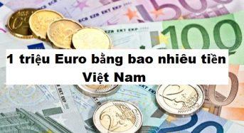 1 triệu Euro bằng bao nhiêu tiền Việt Nam (VNĐ) ? Tỷ Giá euro hôm nay