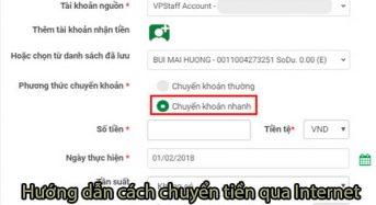 Hướng dẫn cách chuyển tiền qua internet banking VPBank